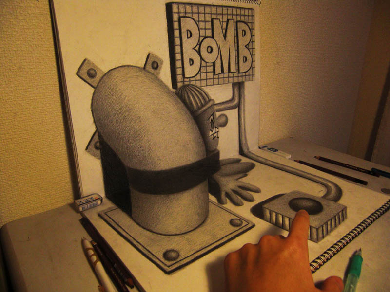 3d-pencil-drawings-in-sketchbooks-nagai-hideyuki-14