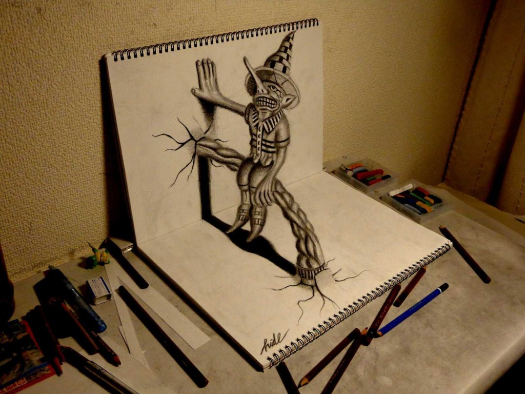 cool-pencil-3d-drawings-on-paper-wallpapers